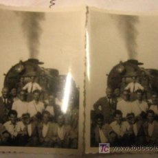 Sellos: 2 FOTOS IGUALES, MÁQUINA DE VAPOR, FERROCARRIL, 9'5 X 6 CMS. Lote 7171343