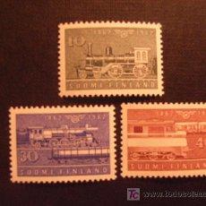 Timbres: TRENES. SERIE DE FINLANDIA Nº YVERT 519/1*** AÑO 1962.. Lote 27635503