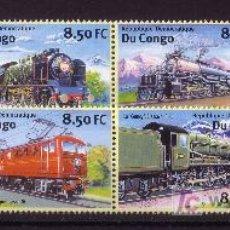 Sellos: CONGO KINSHASA 1522FF/22FN*** - AÑO 2001 - TRENES - LOCOMOTORAS. Lote 23601023