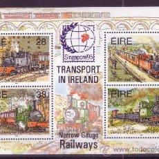 Sellos: IRLANDA HB 20** - AÑO 1995 - EXPOSICION FILATÉLICA INTERNACIONAL SINGAPUR 95 - TRENES. Lote 21525878
