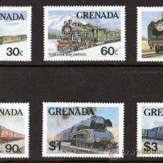 Sellos: GRENADA AÑO 1982 MI 1153/58*** TRENES FAMOSOS - FERROCARRILES - LOCOMOTORAS - TRANSPORTES. Lote 108725627