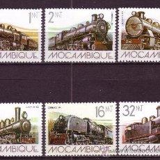 Sellos: MOZAMBIQUE 910/15*** - AÑO 1983 - TRENES - ANTIGUAS LOCOMOTORAS. Lote 24655931