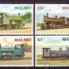 Sellos: MALAWI 493/96*** - AÑO 1987 - TRENES - LOCOMOTORAS A VAPOR. Lote 24655960