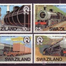 Sellos: SWAZILAND 464/67*** - AÑO 1984 - 20º ANIVERSARIO DE LOS FERROCARRILES EN SWAZILAND - TRENES. Lote 24765197