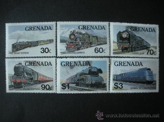 GRANADA 1982 IVERT 1055/60 *** TRENES FAMOSOS - FERROCARRILES (Sellos - Temáticas - Trenes y Tranvias)