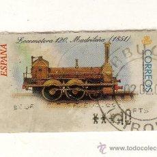 Sellos: SELLO USADO DE VALOR VARIABLE DEDICADO A LA LOCOMOTORA MADRILEÑA (1851) Y EMITIDO EN FEBRERO 2001. Lote 26323802