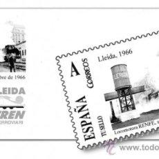 Sellos: SOBRE CONMEMORATIVO EXPOTREN LLEIDA 2012 CON MATASELLOS ORDINARIO DEL 17/03/12 . Lote 34600515