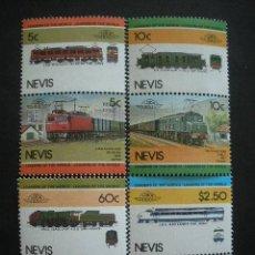 Sellos: NEVIS 1984 IVERT 221/8 *** LOCOMOTORAS (II) - TRENES. Lote 31016628