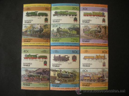 TUVALU - NANUMEA 1984 IVERT 1 *** LOCOMOTORAS ANTIGUAS (I) - TRENES (Sellos - Temáticas - Trenes y Tranvias)