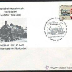 Sellos: AUSTRIA.1987.TRENES.FERROCARRIL.BONITO MATASELLOS.. Lote 32615451