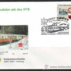 Sellos: AUSTRIA.1989.TRENES.FERROCARRIL.BONITO MATASELLOS.. Lote 32615465