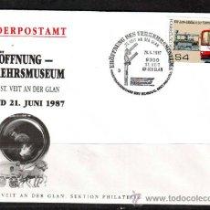 Sellos: AUSTRIA.1987.TRENES.FERROCARRIL.BONITO MATASELLOS.. Lote 32615499