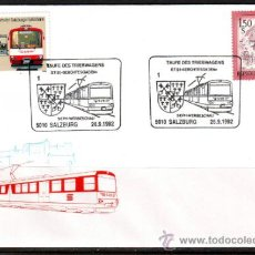 Sellos: AUSTRIA.1992.TRENES.FERROCARRIL.BONITO MATASELLOS.. Lote 32615600