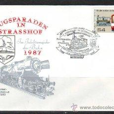 Sellos: AUSTRIA.1987.TRENES.FERROCARRIL.BONITO MATASELLOS.. Lote 32615611