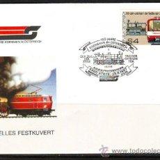 Sellos: AUSTRIA.1987.TRENES.FERROCARRIL.BONITO MATASELLOS.. Lote 32615621