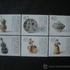 Sellos: PORTUGAL 1992 IVERT 1873/8 *** LOZA PORTUGUESA (III) DEL SIGLO XIX - CERAMICA . Lote 34253999