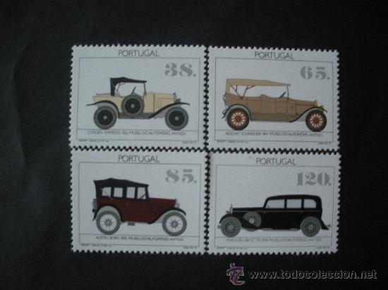 PORTUGAL 1992 IVERT 1889/92 *** MUSEO DEL AUTOMOVIL - COCHES ANTIGUOS (Sellos - Temáticas - Trenes y Tranvias)