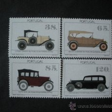 Sellos: PORTUGAL 1992 IVERT 1889/92 *** MUSEO DEL AUTOMOVIL - COCHES ANTIGUOS. Lote 34254060