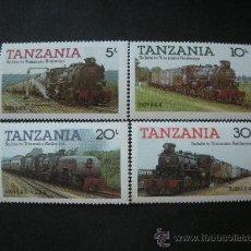Sellos: TANZANIA 1985 IVERT 263/6 *** LOCOMOTORAS Y TRENES DE TANZANIA (I). Lote 35660619