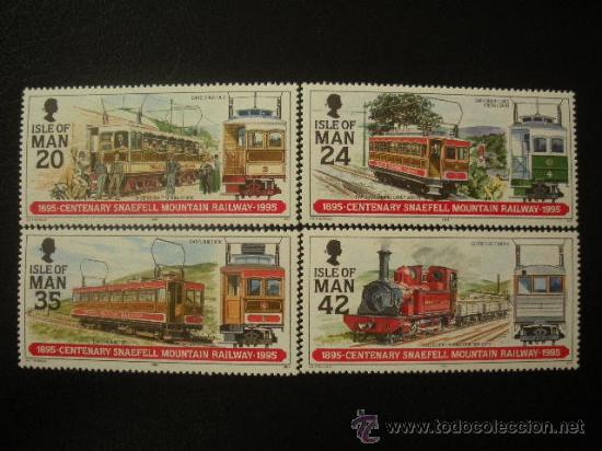 ISLA DE MAN 1995 IVERT 653/6 *** CENTENARIO DEL TRANVÍA DEL MONTE SNAEFELL (Sellos - Temáticas - Trenes y Tranvias)