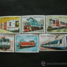 Sellos: GUINEA BISSAU 1989 IVERT 521/7 *** TRASNPORTES FERROVIARIOS - TRENES. Lote 36373892