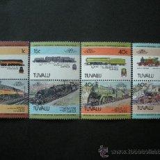 Sellos: TUVALU 1984 IVERT 223/30 *** LOCOMOTORAS - 1ª SERIE - TRENES. Lote 36374767