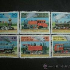 Sellos: R.GUINEA 1997 IVERT 1129/34 *** LOCOMOTORAS ANTIGUAS - TRENES. Lote 36972424
