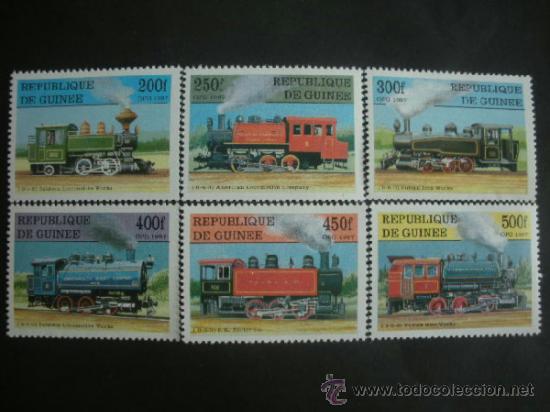R.GUINEA 1997 IVERT 1129/34 *** LOCOMOTORAS ANTIGUAS - TRENES (Sellos - Temáticas - Trenes y Tranvias)