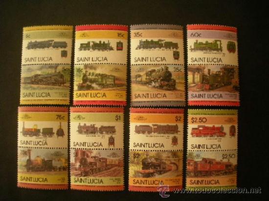 SANTA LUCIA 1985 IVERT 704/19 *** LOCOMOTORAS (III) - TRENES ANTIGUOS (Sellos - Temáticas - Trenes y Tranvias)