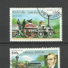 Sellos: LAOS - LOTE DE SELLOS TEMATICA TRENES- TRAINS- TREN- FERROCARRIL- RAILWAYS- LOCOMOTORA. Lote 40420566