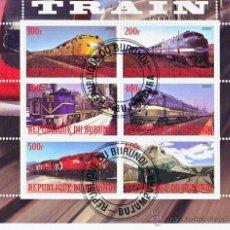 Sellos: BURUNDI 2009 HOJA BLOQUE LOCOMOTORA - TRENES - TRANVIA- TRAINS- TREN- LOCOMOTORA- RAILWAYS. Lote 40476663