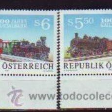 Timbres: AUSTRIA. 1559/60 CENTENARIO FERROCARRILES**. 1994. NUMERACIÓN YVERT Y SELLOS NUEVOS.. Lote 40763161