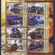 Sellos: RWANDA 2012 HOJA BLOQUE TREN BALA - TREN VELOZ - LOCOMOTORA- TRENES- LOCOMOTIVES- TRAINS . Lote 41218087