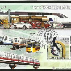 Sellos: GUINEA BISSAU 2006 HOJA BLOQUE DE SELLO TEMATICA TRENES- TRAINS- TREN- FERROCARRIL- RAILWAYS. Lote 42197370
