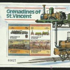 Sellos: GRENADINES OF ST VINCENT HOJA BLOQUE DE SELLO TEMATICA TRENES- TRAINS- TREN- FERROCARRIL- RAILWAYS. Lote 42197489