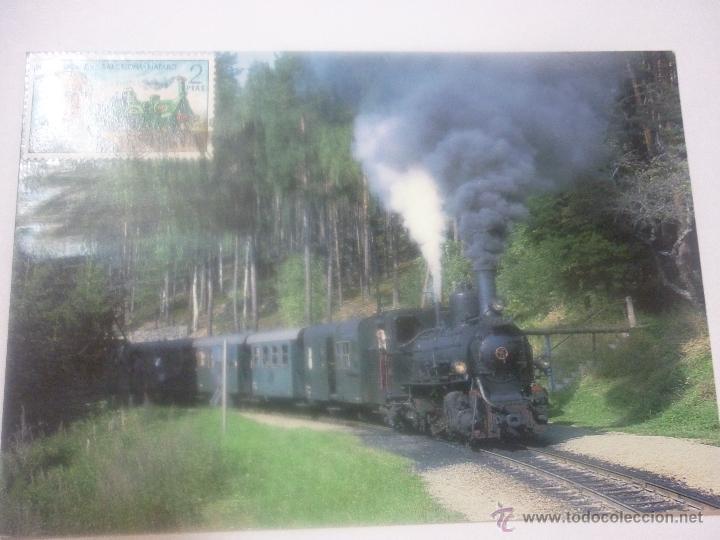 AUSTRIA, LÍNEA GMÜND-GROSS GERUNGS. EXP. FILAT. EL FERROCARRIL A TRAVÉS DEL TIEMPO. ALBACETE 1999 (Sellos - Temáticas - Trenes y Tranvias)