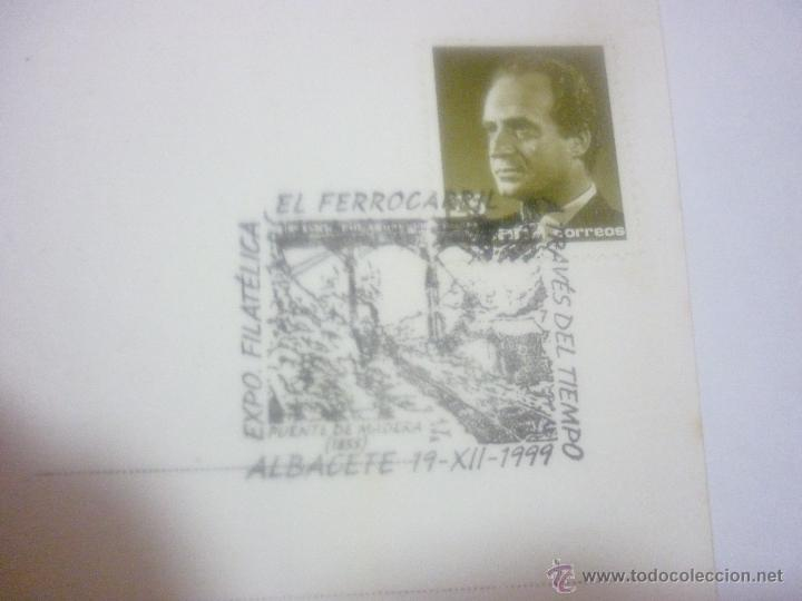 Sellos: AUSTRIA, LÍNEA GMÜND-GROSS GERUNGS. EXP. FILAT. EL FERROCARRIL A TRAVÉS DEL TIEMPO. ALBACETE 1999 - Foto 3 - 43461339