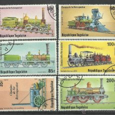Sellos: TOGO 1979 LOTE DE SELLOS TRENES- TRANVIA- FERROCARRIL- LOCOMOTORAS- TREN- TRAINS- RAILWAYS. Lote 43660266