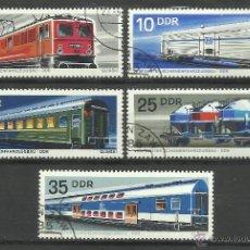 Sellos: ALEMANIA 1985 LOTE DE SELLOS TRENES- TRANVIA- FERROCARRIL- LOCOMOTORAS- TREN- TRAINS- RAILWAYS. Lote 43660326