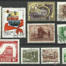 Sellos: MAGYAR LOTE DE SELLOS TRENES- TRANVIA- FERROCARRIL- LOCOMOTORAS- TREN- TRAINS- RAILWAYS . Lote 43660433