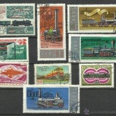 Sellos: CCCP LOTE DE SELLOS TRENES- LOCOMOTORAS- TREN- TRAINS- RAILWAYS- FERROCARRIL. Lote 43660498