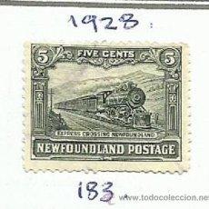 Sellos: CANADA 1928 COLONIA NEWFOUNDLAND TERRANOVA SELLO FERROCARRIL- TRENES- LOCOMOTORAS- TREN- TRAINS. Lote 45950095