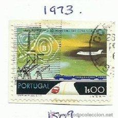 Timbres: PORTUGAL 1973 LOTE DE SELLO FERROCARRIL- TRENES- LOCOMOTORAS- TREN- TRAINS. Lote 45978636