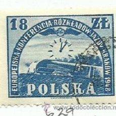 Sellos: POLONIA 1948 SELLO CONFERENCIA FERROVIARIA CRACOVIA FERROCARRIL- TRENES- LOCOMOTORAS- TREN- TRAINS . Lote 46015118