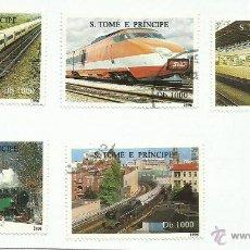 Sellos: ST TOME E PRINCIPE 1996 LOTE DE SELLOS FERROCARRIL- LOCOMOTORAS- TREN- TRENES- TRANVIAS- TRAINS. Lote 46039054