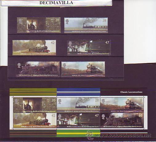 GRAN BRETAÑA, TRENES, 2004, 2512/17+ H.B. 23 (Sellos - Temáticas - Trenes y Tranvias)