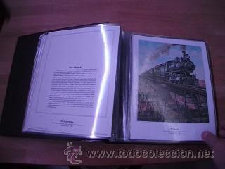 Sellos: LEGENDARY LOCOMOTIVES OF THE 50 STATES FINE ART PRINTS 1994 TREN FERROCARRIL locomotora (Ver Video) - Foto 10 - 44960991