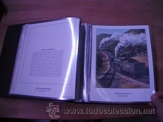 Sellos: LEGENDARY LOCOMOTIVES OF THE 50 STATES FINE ART PRINTS 1994 TREN FERROCARRIL locomotora (Ver Video) - Foto 12 - 44960991