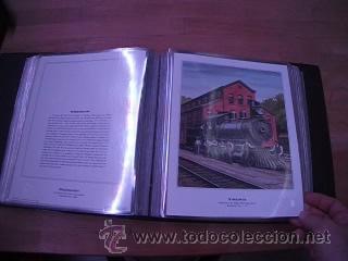 Sellos: LEGENDARY LOCOMOTIVES OF THE 50 STATES FINE ART PRINTS 1994 TREN FERROCARRIL locomotora (Ver Video) - Foto 14 - 44960991