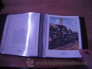 Sellos: LEGENDARY LOCOMOTIVES OF THE 50 STATES FINE ART PRINTS 1994 TREN FERROCARRIL locomotora (Ver Video) - Foto 15 - 44960991